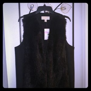 Michael Kors black full length vest